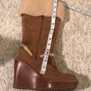UGG Shoes - UGG NWOB Aubrie Tall Wedge Boots chestnut color